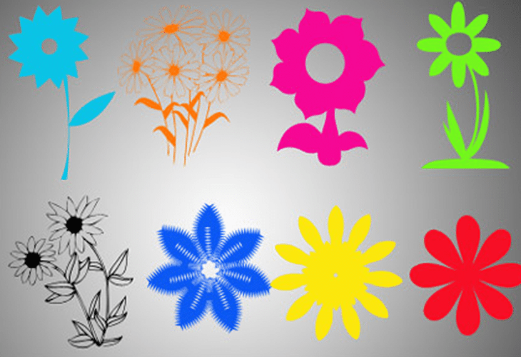20 Photoshop Floral Shapes