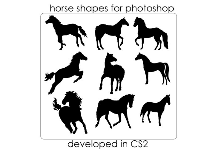 Horse Photoshop Shapes