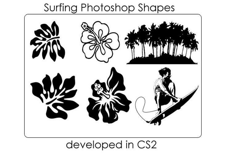 Surfing Themed Shapes