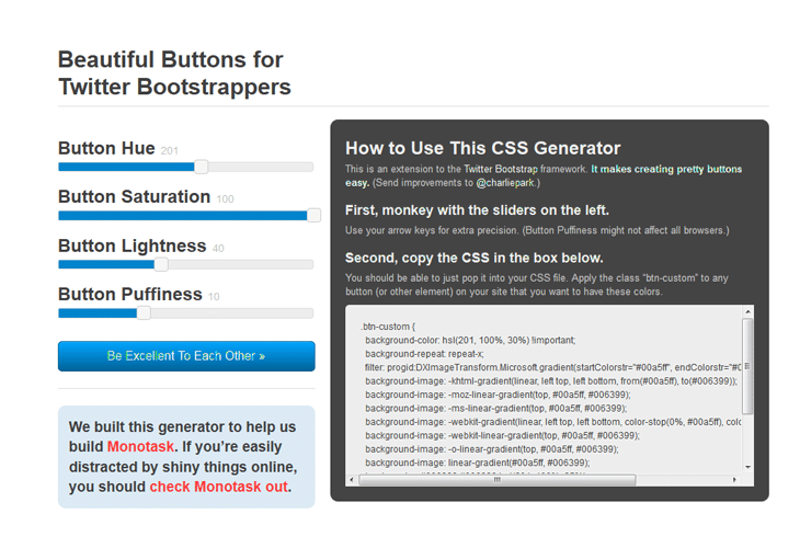 Beautiful Buttons for Twitter Bootstrappers