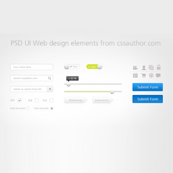 Download Free UI Web Design Elements PSD