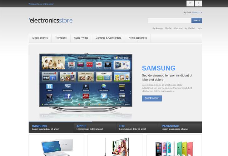 Electronics Store - cssauthor.com