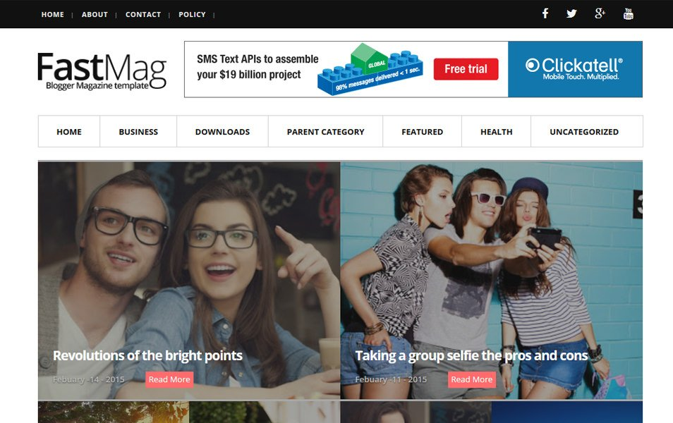 Fast Mag Responsive Blogger Template