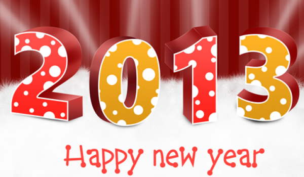 Free New Years 2013 Greeting Card Template PSD Download - cssauthor.com