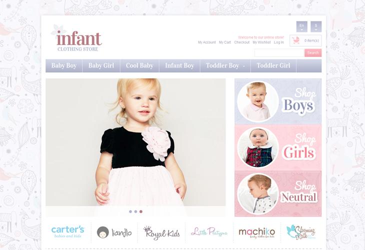 Infant Store Responsive Magento Theme - cssauthor.com
