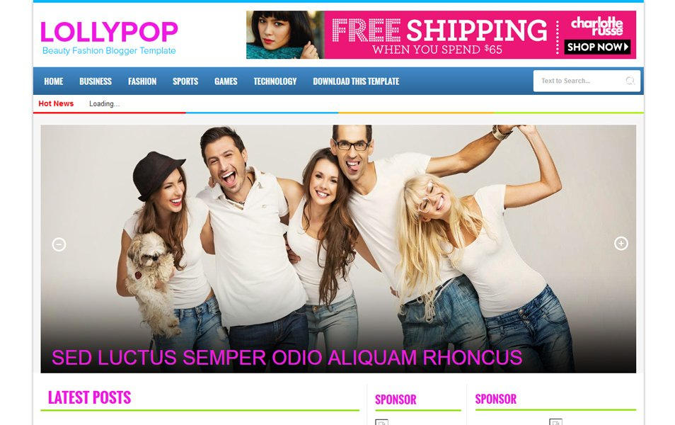 LollyPop Magazine Blogger Template