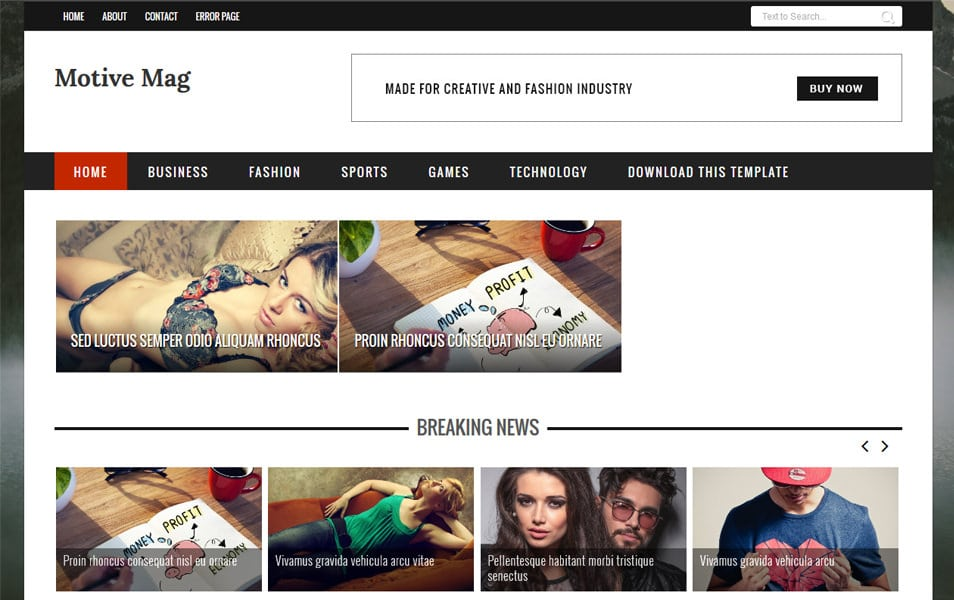 Motive Mag Responsive Blogger Template