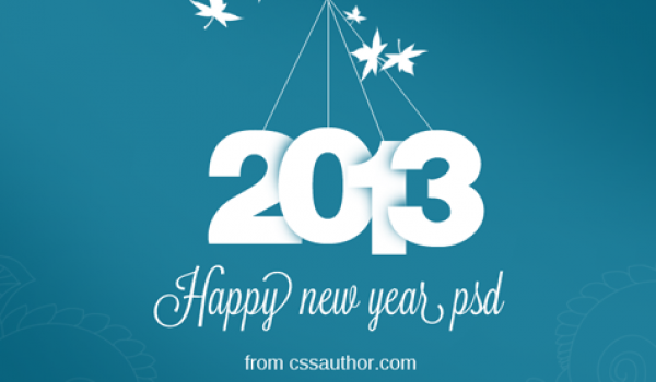 New Year Greeting Card PSD Free Download - cssauthor.com
