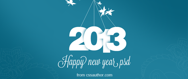 New year greeting card psd free download freebie no 20 m4hsunfo