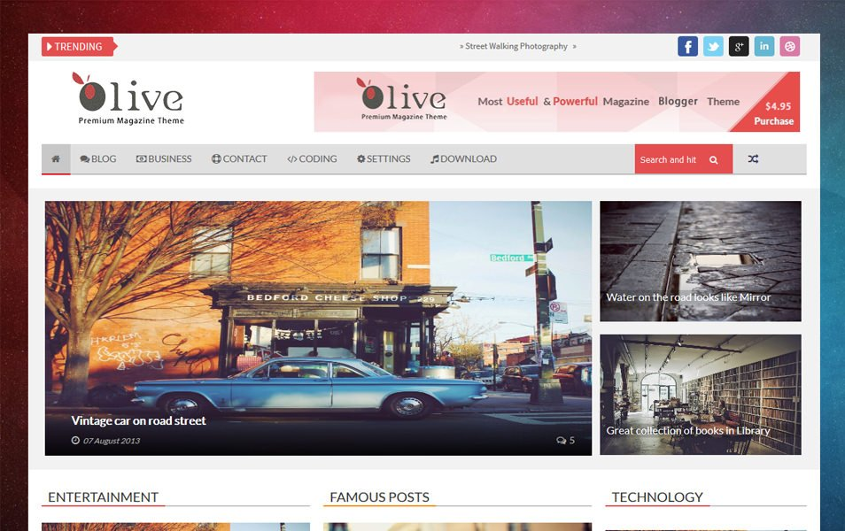 Olive Responsive Blogger Template
