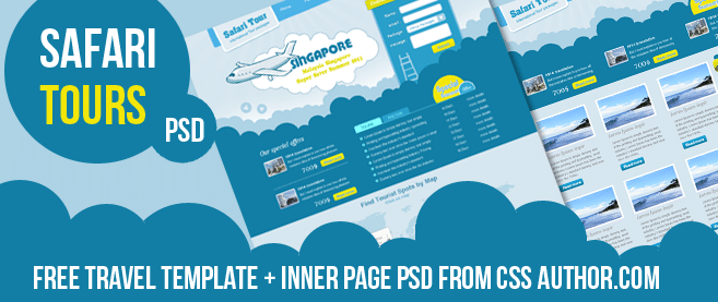 Premium travel web design template psd for free freebie no 6 pronofoot35fo Image collections