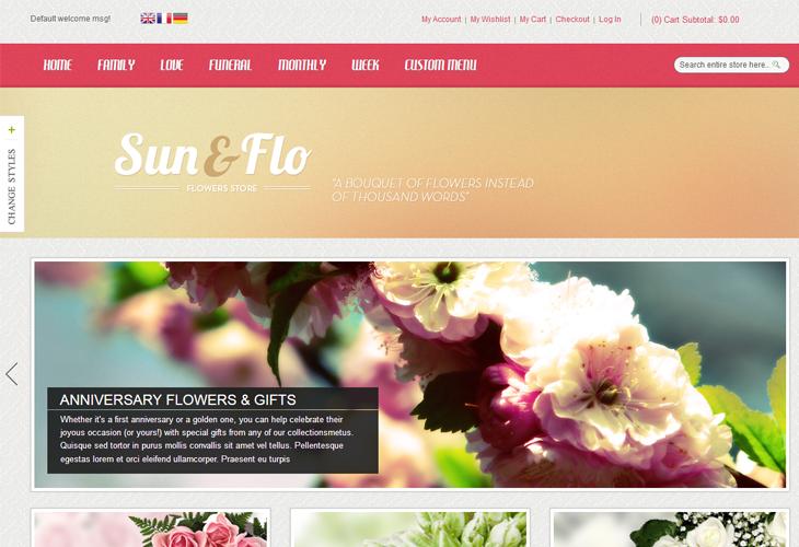 Responsive magento themes MT Sunflo - cssauthor.com