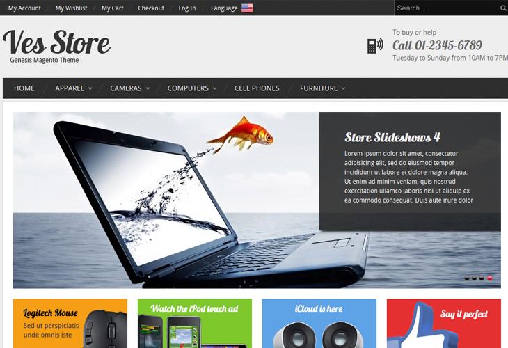 Ves Store - Responsive Magento Theme - cssauthor.com