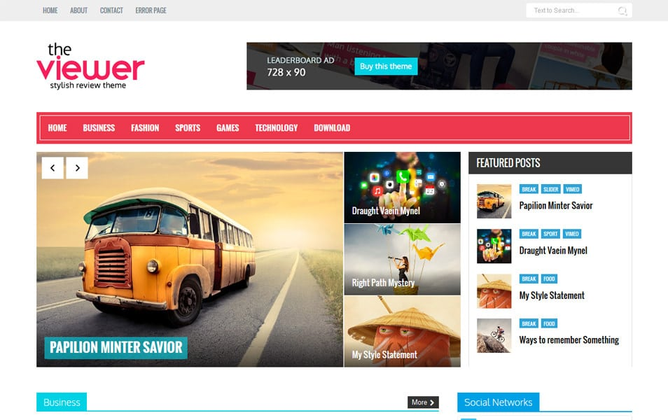 Viewer Responsive Blogger Template