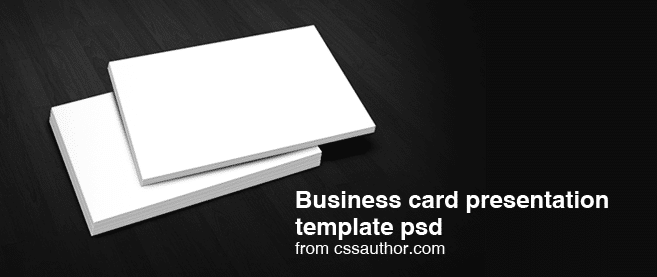 Free Download Business Card Presentation Templates PSD Freebie No - Business card templates psd free download