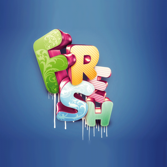20 Best 3D Text Effect Photoshop Tutorials