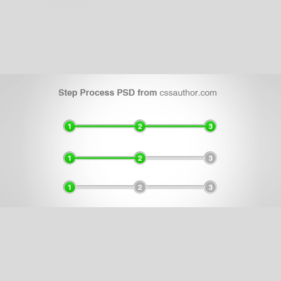 Awesome Step Process UI Element PSD for Free Download