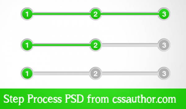 Awesome Step Process UI Element PSD for Free Download - cssauthor.com