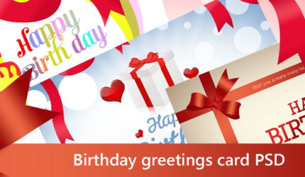Beautiful Birthday Greetings Card PSD for Free Download - cssauthor.com