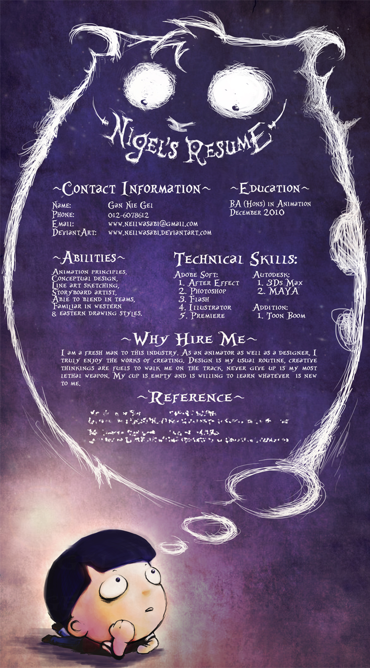 great high quality and modern examples of creative cv resume spooky cv resume