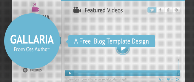 gallaria - free blog template design from css author - freebie no: 44, Powerpoint templates