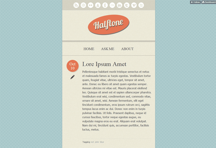 Halftone - Tumblr Theme