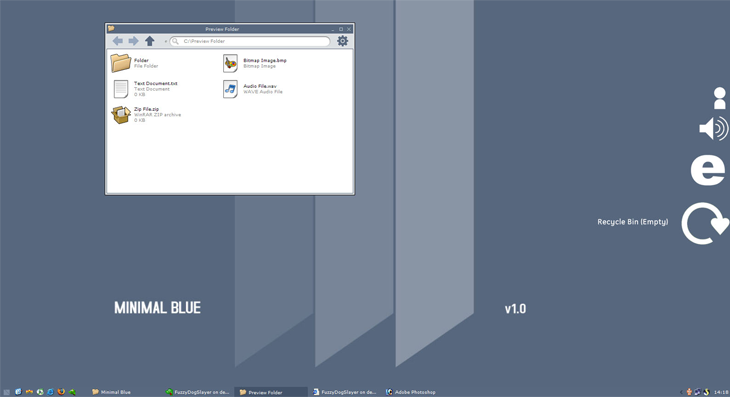 Minimal Blue GUI Kit