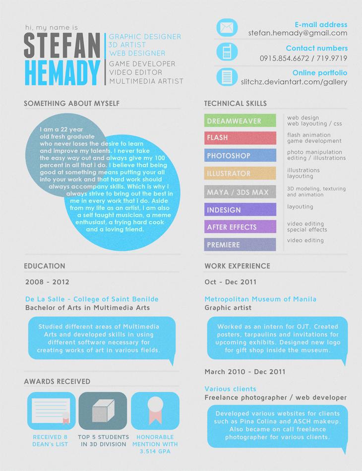 50 Creative CV/Resume Design Inspiration