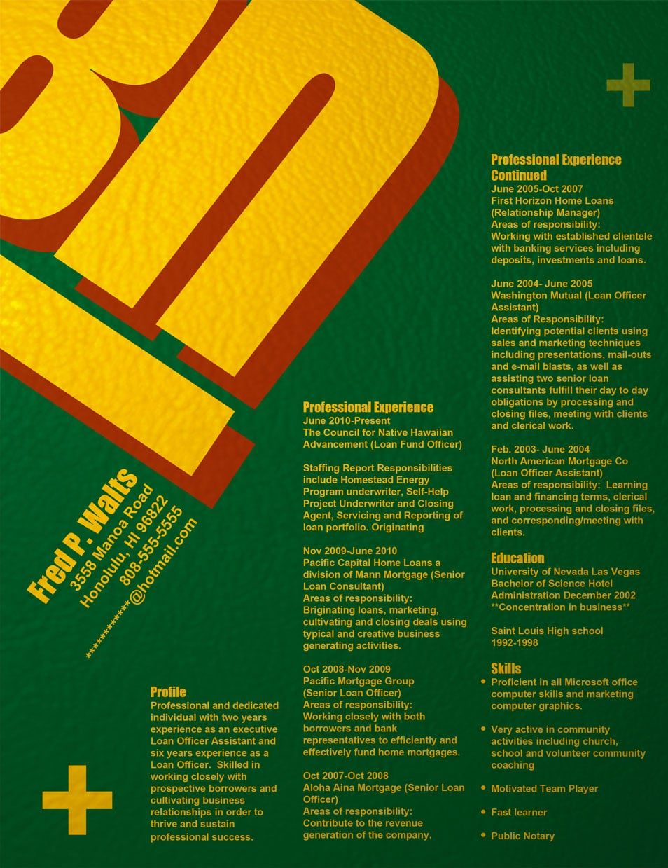 Resume - Swiss Design