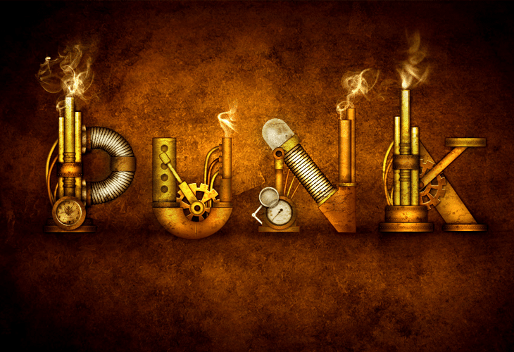 Steampunk Type Treatment