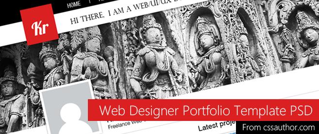 Web Designer Portfolio Template Psd For Free Download Freebie No 42
