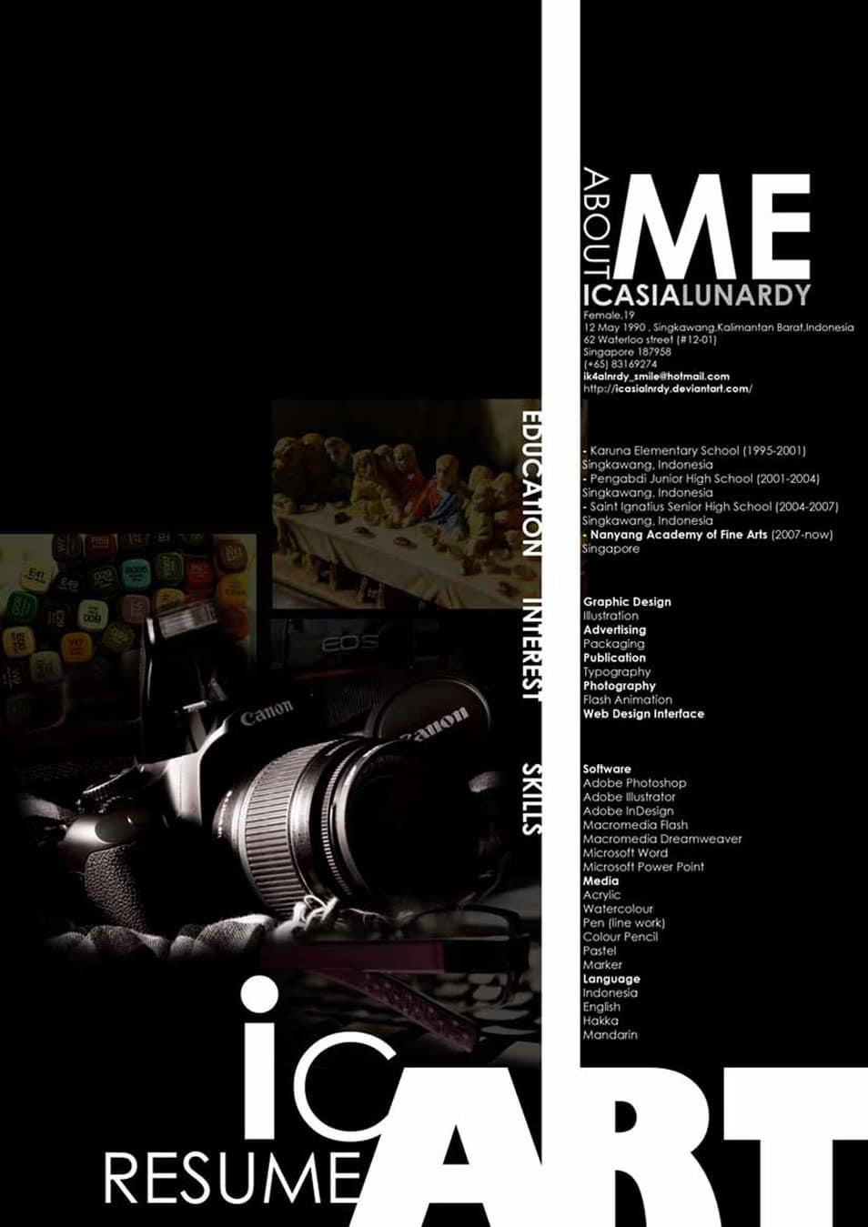 Book Cover Design Internship : Creative cv resume design inspiration