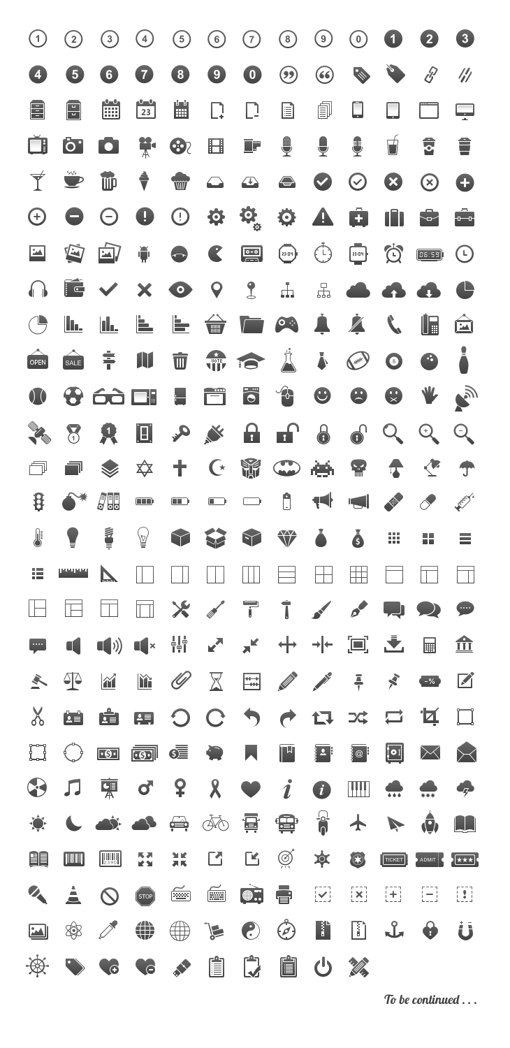 350 pixel perfect glyphs icons