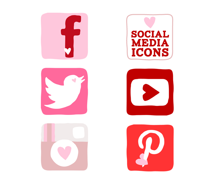 A Valentine's Day Social Media Icon Set You'll Fall In Love With
