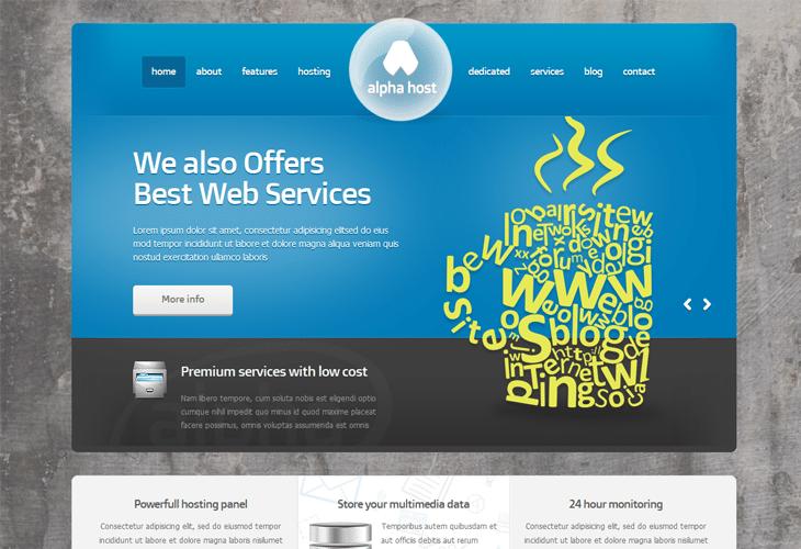 20 premium web hosting website templates for inspiration html css