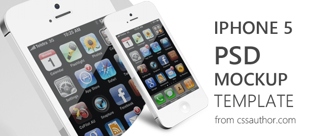 beautiful iphone 5 mockup psd template for free download freebie no 63 - Iphone 5s Mockup Free