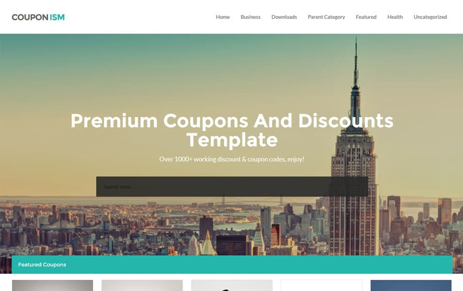 Couponism Responsive Blogger Template