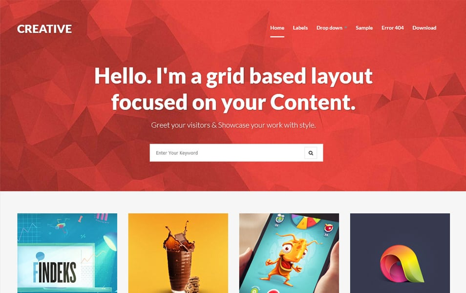 Creative - Clean & Responsive Blogger Template