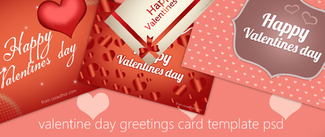 Free Download High Quality Happy Valentines Day Greeting Card PSD – Free Download Valentine Card