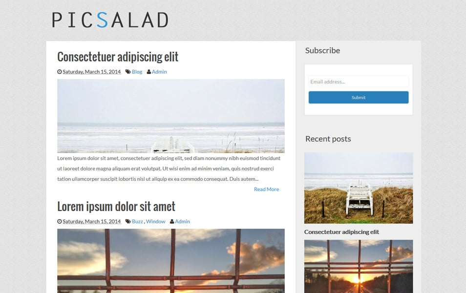 Picsalad Responsive Gallery Blogger Template