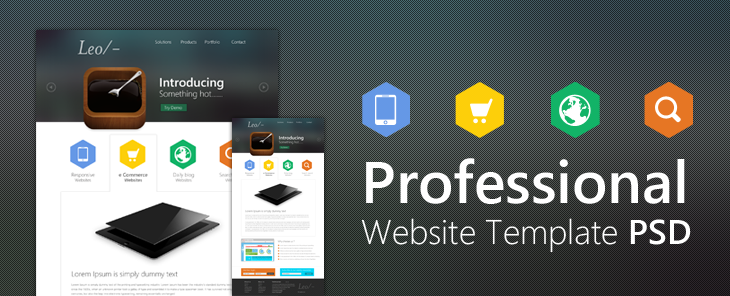 Professional Website Template Design PSD CSS Author - Professional website templates