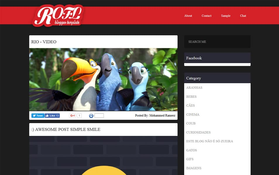 Rofl Meme Responsive Gallery Blogger Template
