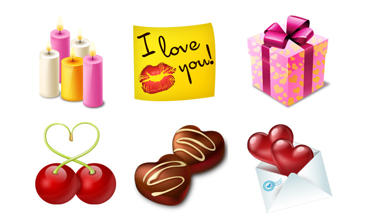 St. Valentines Icon Set