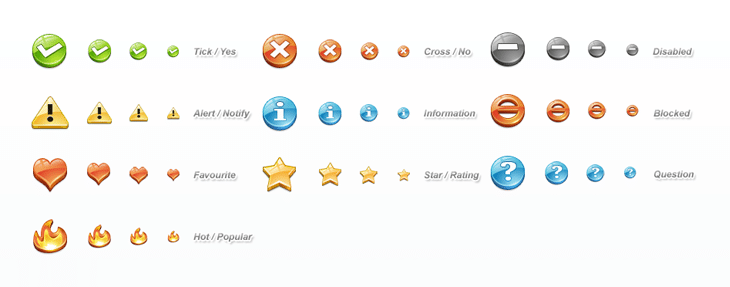 Status Icon Set (10 icons)