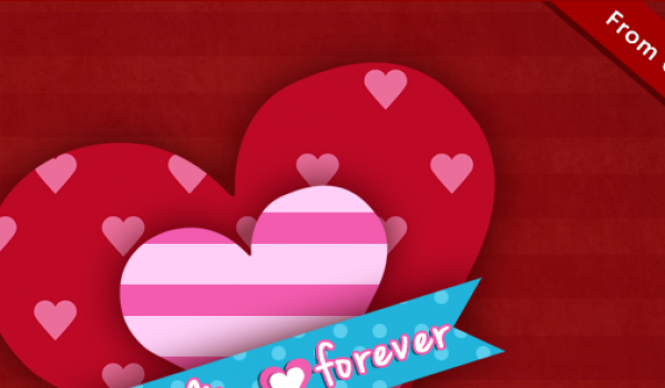 Valentines Day Greetings Card & Wallpapper from CSS Author