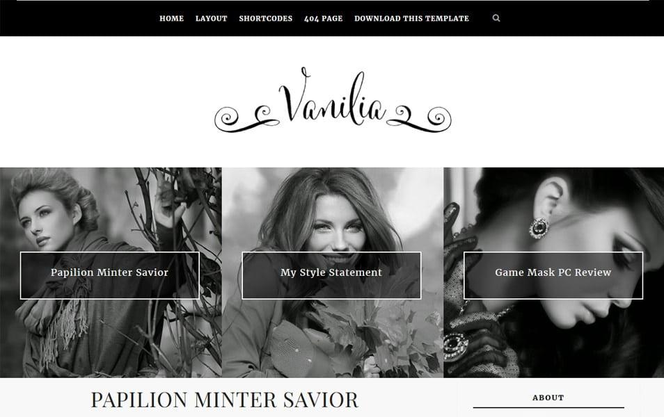 Vanilia Responsive Blogger Template