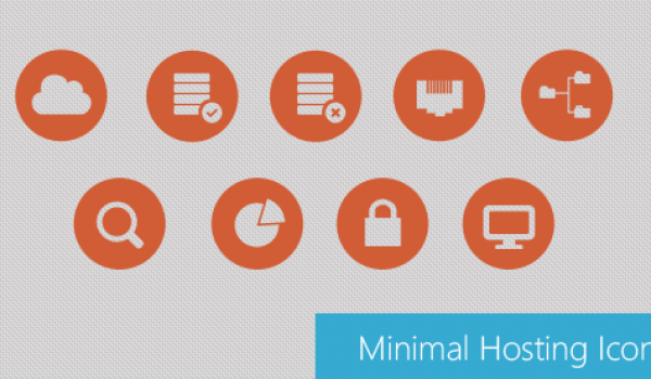 Beautiful Minimal Hosting Icons PSD - cssauthor.com