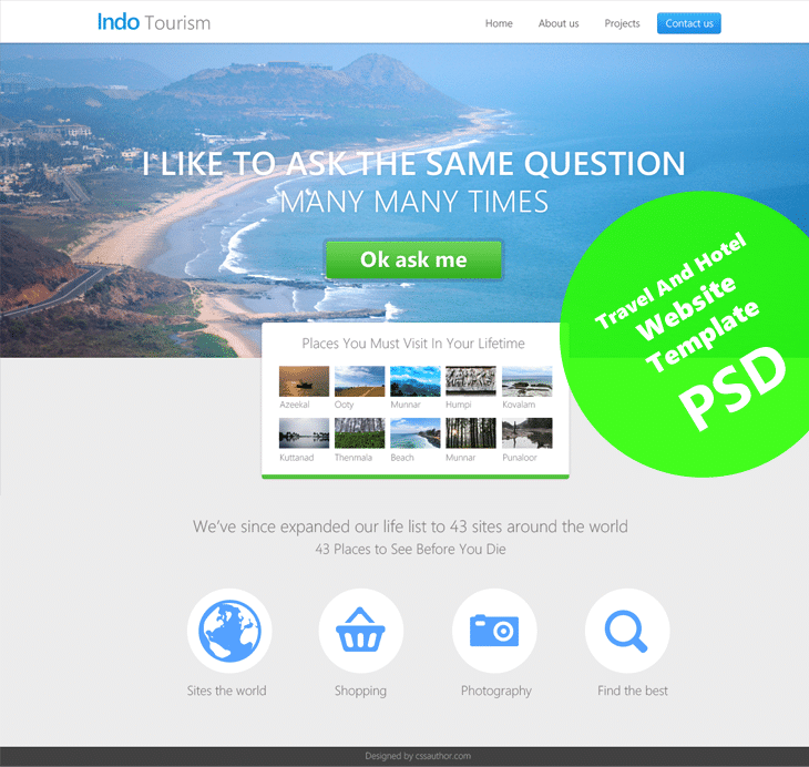 travel website template download