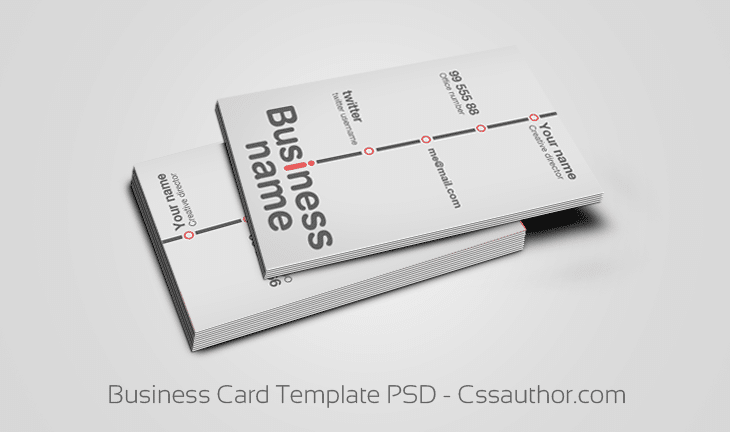 Free business card psd template wajeb Choice Image
