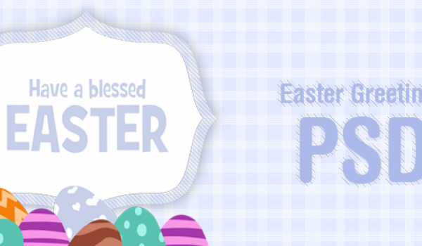 Easter Greetings Card PSD for Free Download - cssauthor.com